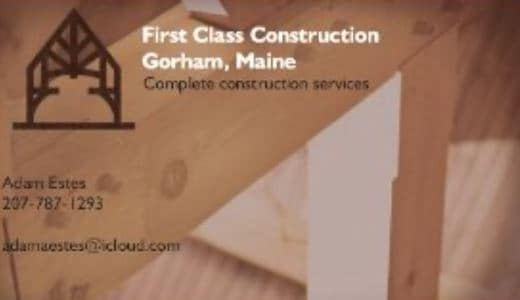 First Class Construction